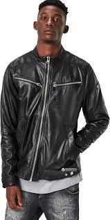 Кожаная куртка g star raw mower leather jkt d03472 8259 l Черная 8718597195611