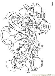 Small Picture Alice In Wonderland Coloring Page 08 Coloring Page Free Alice in
