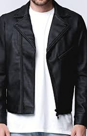 bullhead zip up vegan leather moto jacket mens jacket black