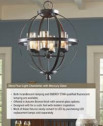 can light conversion chandelier sea gull lighting 715 sfera four