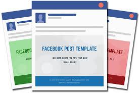 Facebook Post Template 2018 Free Facebook Post Template