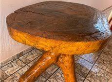 tronco de arvore bruto, faltando fazer o aperfeiçoamento para um pé de mesa. Mesas Rusticas De Troncos 60 Anuncios Na Olx Brasil