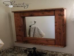 wood mirror frame ideas. Diy Wood Frame Mirror Bathroom Ideas O