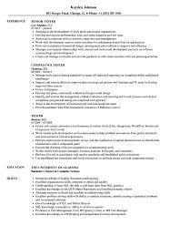 Tester Resume Samples Velvet Jobs