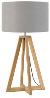 Good Mojo Tafellamp Everest Bamboe Linnen