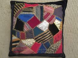Sewing Crazy Quilts from Men's Ties – Trashmagination & Crazy quilt made from men's ties by Connie Bowers Adamdwight.com