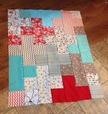 109 best Quilts: Fat quarter images on Pinterest | Tutorials ... & Giant Plus Baby Quilt: A written tutorial and worksheet using fat quarters,  7