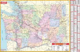 Washington State Mileage Chart Washington State Wall Map Kappa Map Group