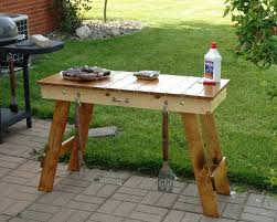 Grilling Table Table Portable Table by insideoutfurniture on Etsy