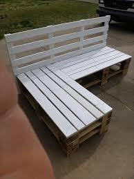 using pallets for furniture. DIY Pallet Sectional Bench | Furniture Using Pallets For L