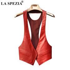 <b>LA SPEZIA</b> Black Womens Vest Short Luxury Waistcoat Female ...