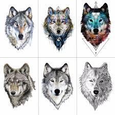 Hxman Wolf Dočasné Tetování Samolepky Vodotěsné ženy Falešné Ruku