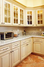North American Maple Antique White Glaze Kitchen Cabinets with ...