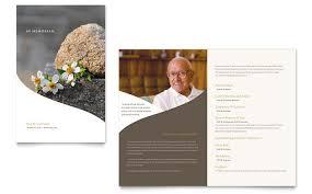 Memorial Funeral Program Newsletter Template Design
