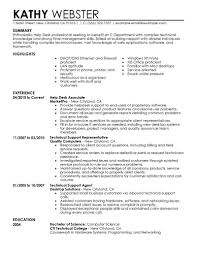 Sample Help Desk Support Resume Technical Support Cv Sample Targer Golden Dragon Best Solutions Of 10