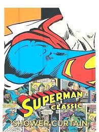 comic book shower curtain dc superman vintage