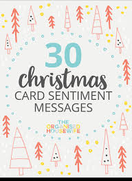 30 Christmas Card Sentiment Messages The Organised Housewife