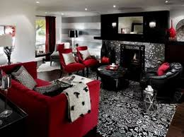 black and silver living room