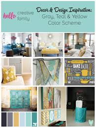 decor and design inspiration gray teal and yellow color scheme