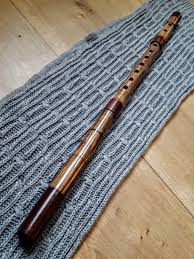 kaval flute in d handmade from walnut wood
