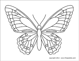A moth, a nocturnal butterfly. Butterflies Free Printable Templates Coloring Pages Firstpalette Com