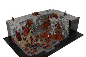 Lego Lord Of The Rings Designs Lego Lord Of The Rings Orc Forges Moc Youtube Lego