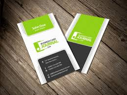 Four Vertical Business Card Template Psd File Free Download