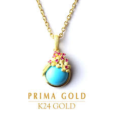 pure gold turquoise ruby nature stone pendant lady s woman yellow gold gift present birthday present 24 karat gold jewelry accessories brand guarantee of