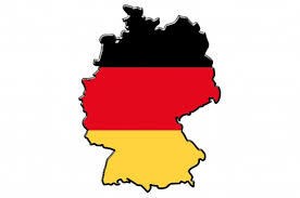 mapa bandera alemana
