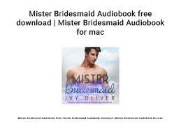 Mister Bridesmaid Audiobook free download   Mister Bridesmaid Audiobo…