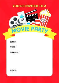 Movie Ticket Party Invitation Amair Co