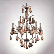 wrought iron crystal chandelier 1 light in white