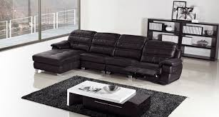 modren black faux leather sectional sofa
