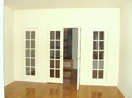 image of interior french doors with glass and side panels