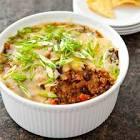 beef and black bean taco dip