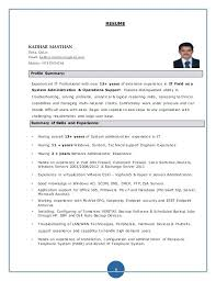 Windows System Administrator Resume Examples Windows System