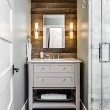 rustic stone bathroom designs. Example Of A Small Mountain Style 3/4 Gray Tile And Stone Floor Rustic Bathroom Designs