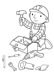 Small Picture Preparing tools coloring pages for kids printable free Bob the