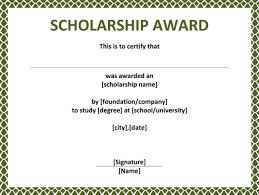 Wording For Award Certificates 5 Plus Scholarship Award Certificate ...