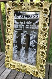 Mirror Table Seating Chart Baroque Framed Mirror Chalkboard Rental As Welcome Sign To