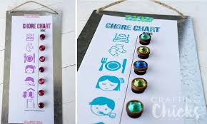 Magnetic Chore Charts The Crafting Chicks