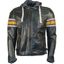 richa toulon leather motorcycle jacket biker urban retro