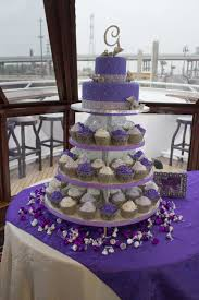 My Purple Wedding Purple Cupcake Cake For The Bride I Had Silver
