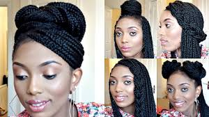 Box Braids Hair Style styling box braids 6 simple and elegant styles youtube 6118 by wearticles.com