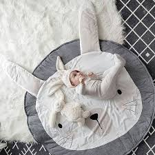 luxury nursery rug actionclub 90 c m round rabbit baby playmat crawling mat tee floor soft play