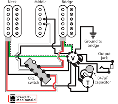 golden age humbucker wiring diagrams stewmac com humbucker single coil humbucker wiring in positions 2 neck and middle and 4 bridge and middle the humbuckers are coil cut