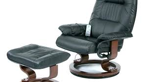 singular leather swivel recliner chair and stool