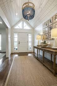 foyer table ideas entry beach style with sisal rug