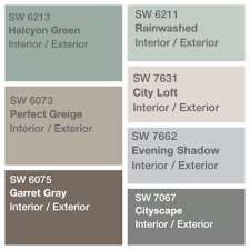 Sherwin Williams Color Palette Palette Decided For House Paint Sherwin Williams Perfect Greige
