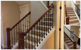 amazing natural modern wood stair railings with modern banister